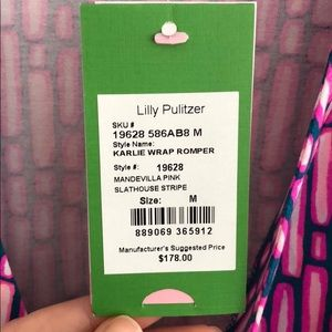 7b705302d558 Lilly Pulitzer Pants - NWT Lilly Pulitzer Karlie Wrap Romper